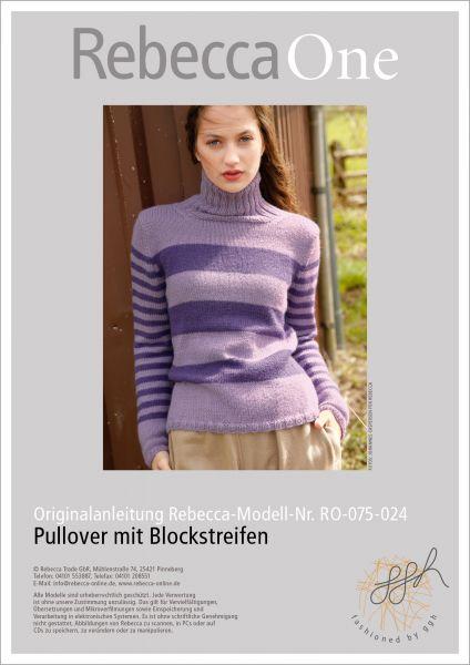Strickanleitung - Blockstreifen-Pullover